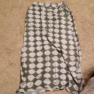 High waist long skirt